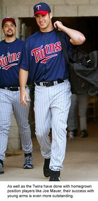 Catcher Joe Mauer is just one of the great homegrown talents on the Twins.