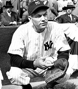 Bill Dickey was one of the best hitting catchers of all time for the New York Yankees.