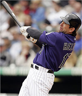 Could Colorado Rockies first baseman Todd Helton be on his way to Boston?