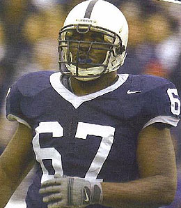 Penn State Nittany Lions offensive tackle Levi Brown could he headed to Miami.