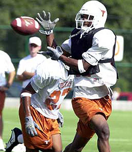 Texas Longhorns cornerback Aaron Ross looks like a first-round pick in the making.