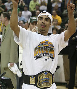 Wright State Raiders guard Dashaun Wood led the team to the Horizon League title.