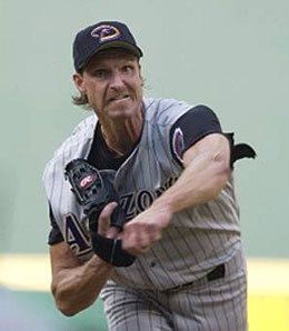 Don't be expecting Randy Johnson to be going deep into games anymore.