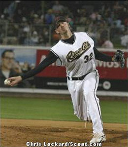 Oakland A's minor league reliever Brad Ziegler has been converted to a sidearm delivery.