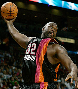 Miami Heat centre Shaquille O'Neal is no longer a marquee draw.