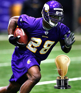 Adrian Peterson is a slam dunk as Rookie of the Year.