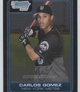 Carlos Gomez could win the centrefielder/lead-off job for the Twins.