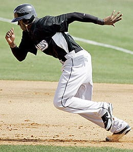 Cameron Maybin is hitting well at Triple-A for the Florida Marlins.