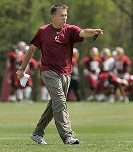 Jim Zorn is under pressure to improve the Washington Redskins.