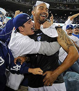 Matt Kemp was the hero again for the Los Angeles Dodgers.