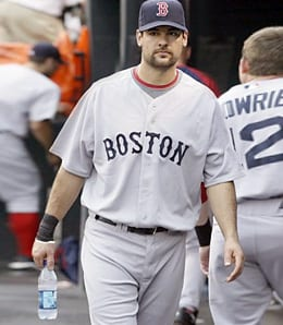 Casey Kotchman is barely playing for the Boston Red Sox.