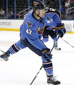 Rich Peverley is on fire for the Atlanta Thrashers.
