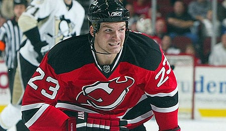 David Clarkson was rolling early for the New Jersey Devils.