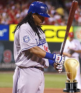 Manny Ramirez wound up back with the Los Angeles Dodgers