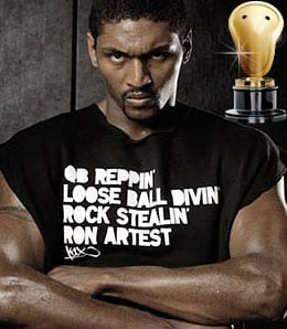 Ron Artest likes to take a little taste.
