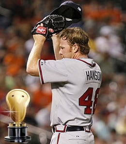 Tommy Hanson turned in a brilliant rookie campaign for the Atlanta Braves.