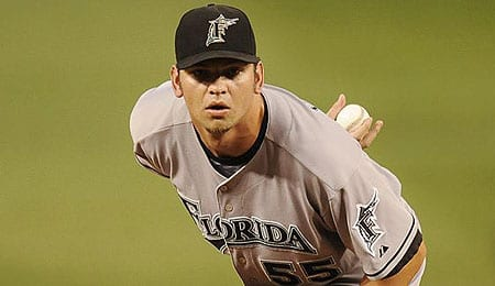 Josh Johnson was rewarded by the Florida Marlins.