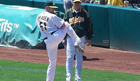 Dallas Braden is off to a brilliant start for the Oakland A's.