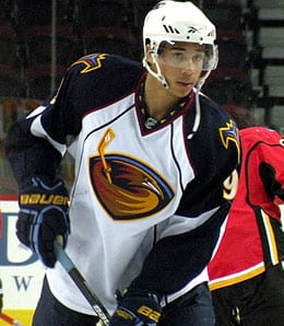 Evander Kane is one tough customer for the Atlanta Thrashers.