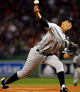 Ubaldo Jimenez has been lights out for the Colorado Rockies.