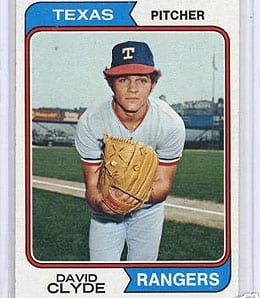 David Clyde was a huge flop for the Texas Rangers.