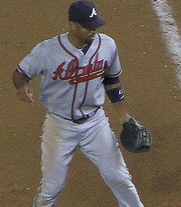 Derrek Lee came to the Atlanta Braves in a mid-season deal.