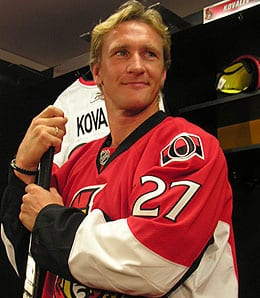 Alexei Kovalev has been awful for the Ottawa Senators.