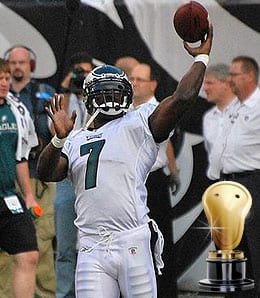 Michael Vick's comeback season for the Philadelphia Eagles was off the charts.