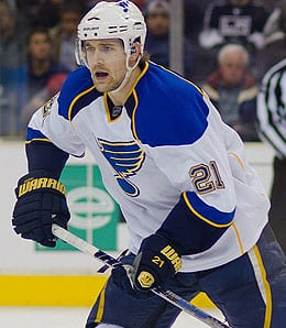 Patrik Berglund is seeing time on the power play for the St. Louis Blues.