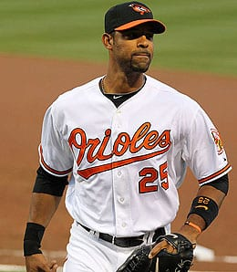 Derrek Lee is currently out for the Baltimore Orioles.