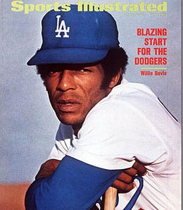 Willie Davis holds the Los Angeles Dodgers record for the longest hitting streak.