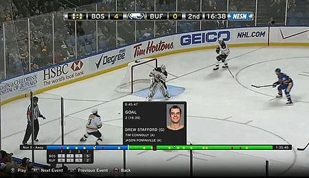 NHL GameCenter App (PS3)