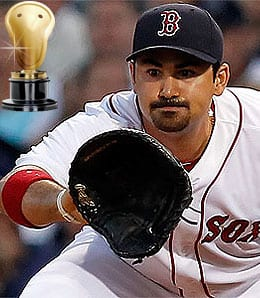 Adrian Gonzalez didn't exactly bring speed to the Boston Red Sox.