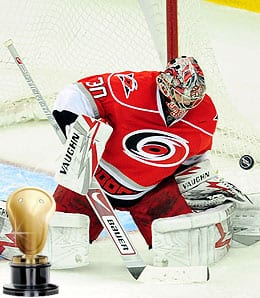 Cam Ward was shellshocked for the Carolina Hurricanes.