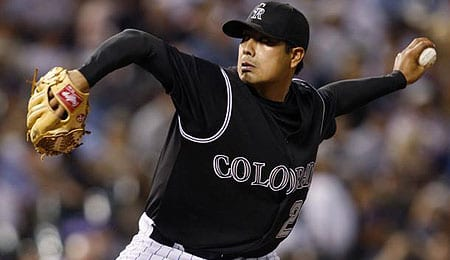 Jorge De La Rosa is progressing from TJS for the Colorado Rockies.