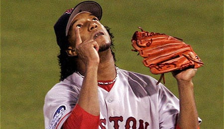 Pedro Martinez was the ace of the Boston Red Sox