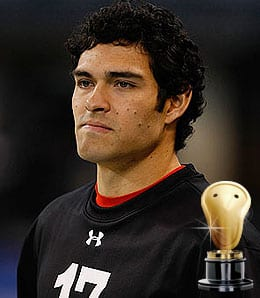 Mark Sanchez of the New York Jets will freely share his bodily fluids.