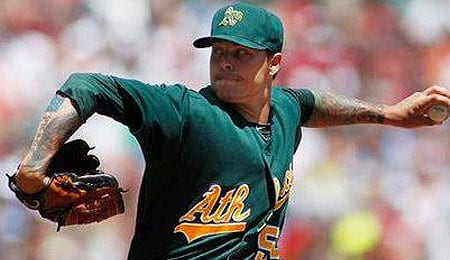 Travis Blackley is pitching well for the Oakland A's.