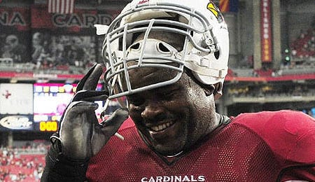 Levi Brown has tore his triceps for the Arizona Cardinals.