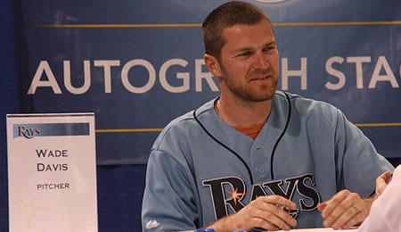 Wade Davis pitched very well for the Tampa Bay Rays.