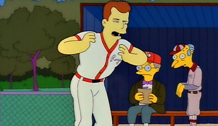 Roger Clemens on The Simpsons