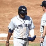 Rymer Liriano, pictured here after an unsuccessful SB attempt, flashed a bit of power at High-A before being promoted to Double-A.