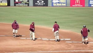 The grounds crew did a great job keeping the field in tip top shape for all the prospects.