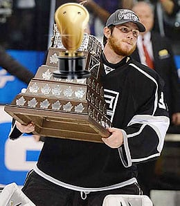 Jonathan Quick was the man for the Los Angeles Kings.