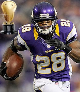 Adrian Peterson was the man for the Minnesota Vikings.
