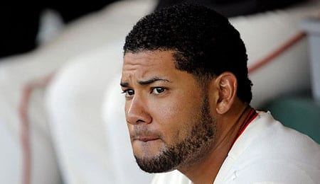 Melky Cabrera's future with the Toronto Blue Jays is in jeopardy.