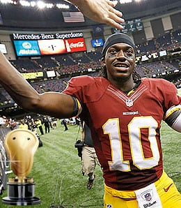 Robert Griffin III had a phenomenal rookie season for the Washington Redskins.