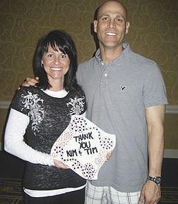 Kim Hudson, wife of Atlanta Braves pitcher Tim Hudson, gave absolution to Eric Young Jr.