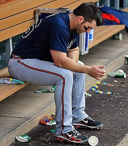 Dan Uggla is racking up the strikeouts for the Atlanta Braves.