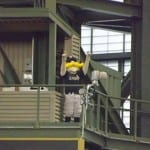 Even Bernie Brewer couldn't stop Milwaukee from falling under .500 with this loss.